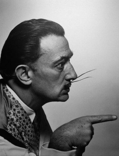 Dali's mustache - Philippe Halsman - agressive