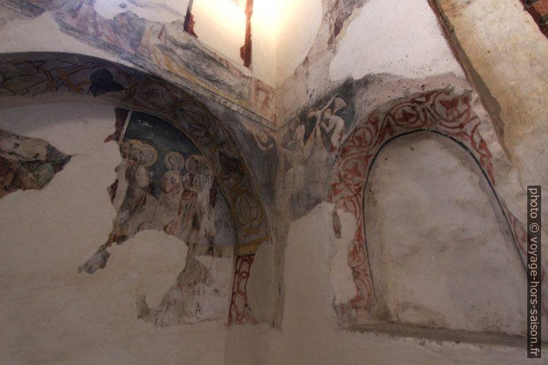 Peintures chrétiennes dans la Mosquée Bab al-Mardum. Photo © André M. Winter