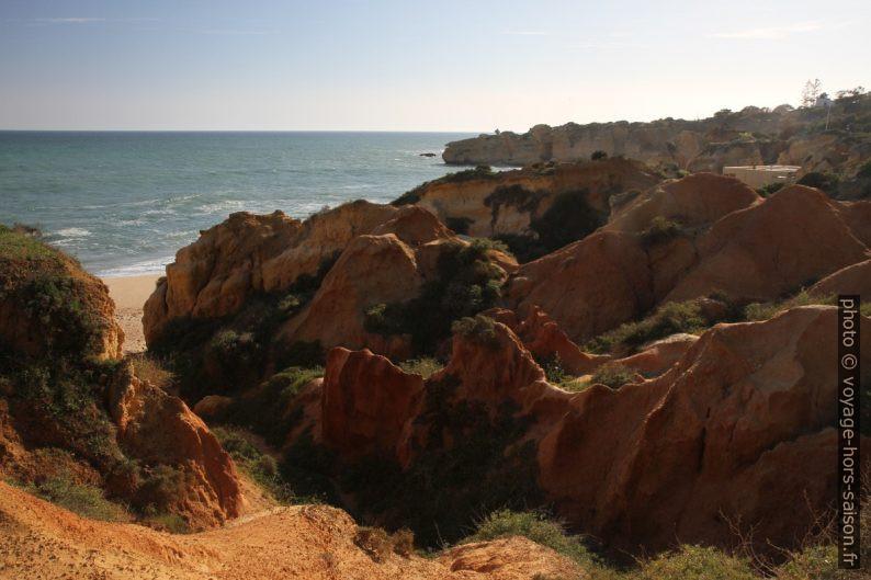 Zone d'érosion à l'arrière de la Praia de São Rafael. Photo © Alex Medwedeff