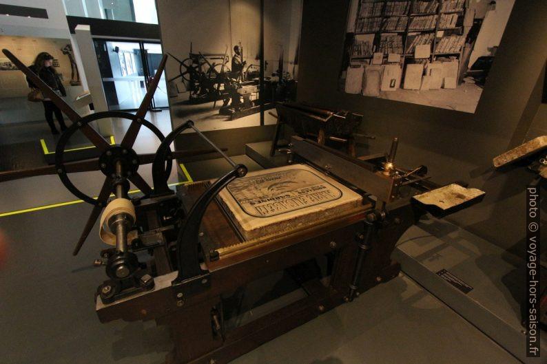 Machine lithographique de J. Voirin. Photo © André M. Winter