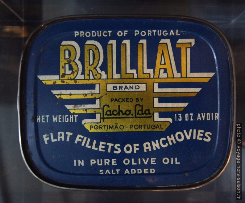 Boîte de conserve d'anchois Brillat. Photo © André M. Winter