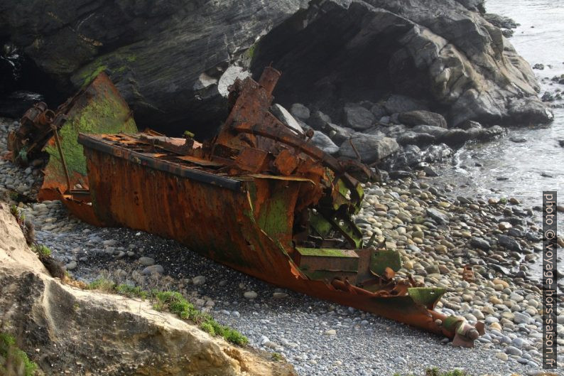 Structure méconnaissable de l'épave du navire Klemens. Photo © André M. Winter
