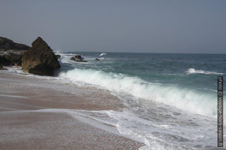 Une vague roule sur la plage. Photo © Alex Medwedeff