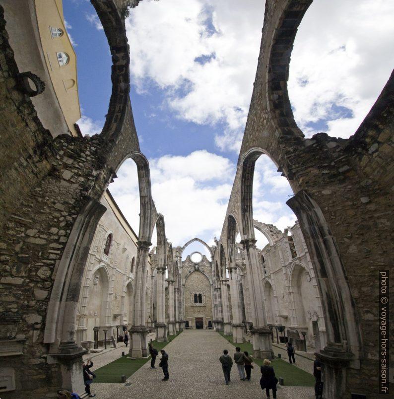 Ruine de la nef de l'église du couvent des Carmes. Photo © André M. Winter