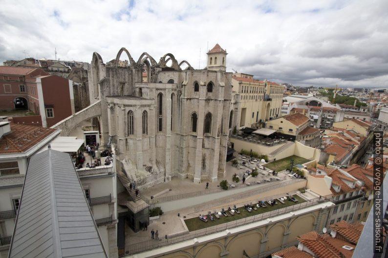 Convento do Carmo vu de l'Elevador Santa Justa. Photo © André M. Winter