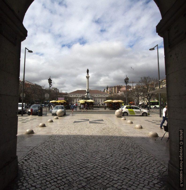 Vue sur la Place Dom Pedro IV. Photo © André M. Winter