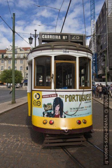 Partie arrière de la rame 564 de la ligne 28E de Lisbonne. Photo © André M. Winter