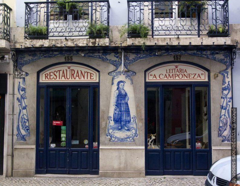 Azulejos du Restaurante «Leitaria a Camponeza ». Photo © André M. Winter