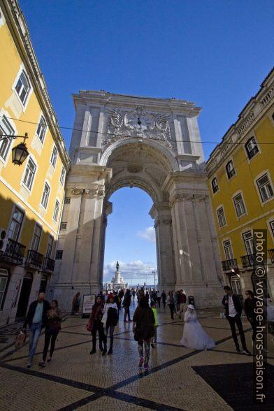 Face arrière de l'Arco da Rua Augusta. Photo © André M. Winter