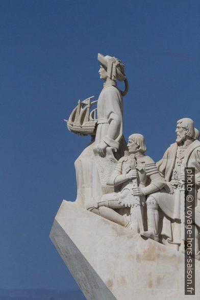 Henri le Navigateur, Alphonse V et Vasco de Gama sur le Padrão dos Descobrimentos. Photo © André M. Winter