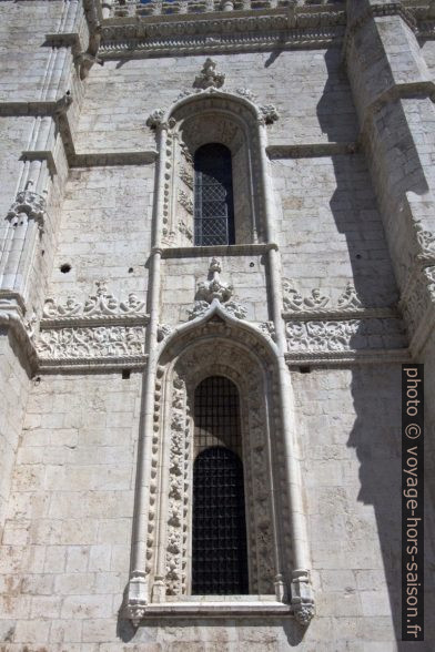 Fenêtres manuélines de l'église Sainte-Marie de Belém. Photo © André M. Winter