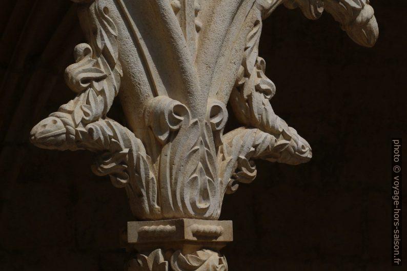 Détail manuélin du remplage d'une arcade de l'étage du cloître du Monastère des Hiéronymites. Photo © André M. Winter