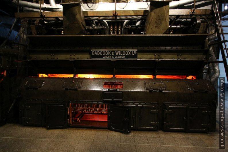 Chaudière de Babock & Wilcox Ltd. dans la Central Tejo. Photo © André M. Winter