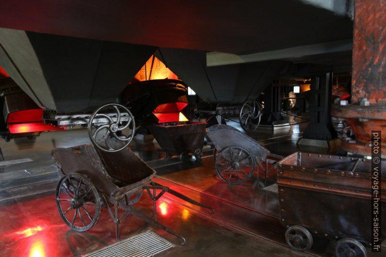 Collecte des cendres sous les chaudières à charbon. Photo © André M. Winter