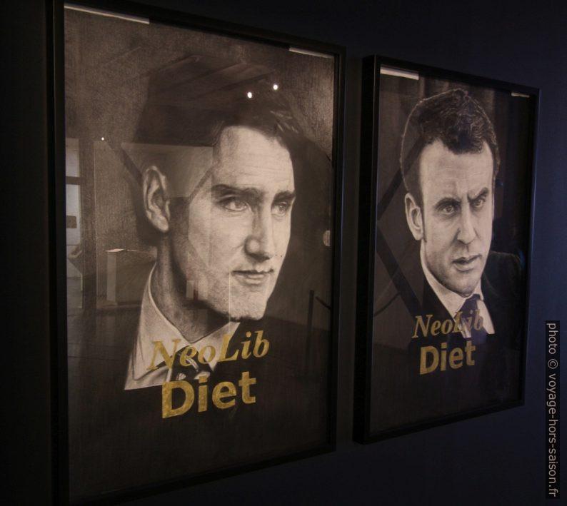 Neolib Diet affichant Justin Trudeau et Emmanuel Macron. Photo © André M. Winter