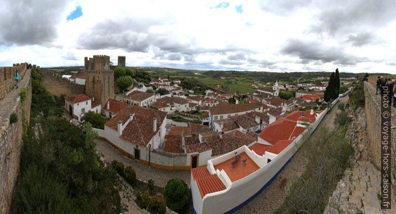 Panorama de Óbidos vu de la muraille ouest. Photo © André M. Winter