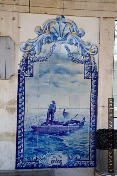Azulejo Lagôa de Óbidos. Photo © Alex Medwedeff