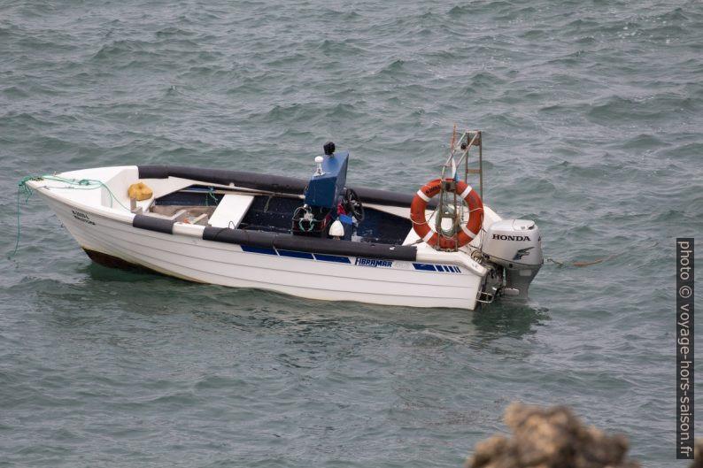 Bateau des pêcheurs de pédonculés au Cabo da Nazaré. Photo © André M. Winter