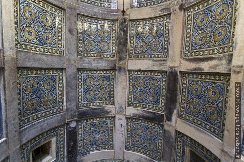 Azulejos de la voûte de la Capela dos Portocarreiros. Photo © André M. Winter