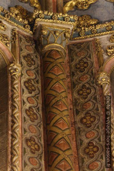 Détail des peintures et dorures Rotonde du Couvent de l'ordre du Christ. Photo © André M. Winter