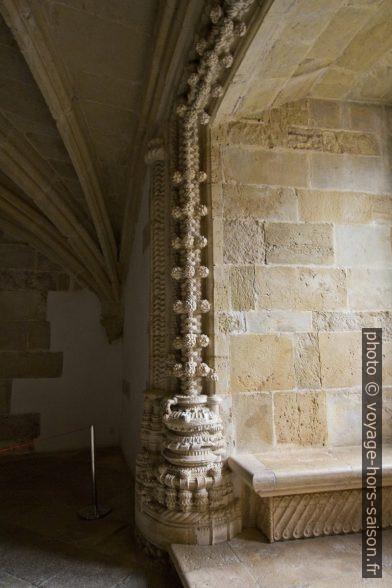 Riches décors manuélins dans le du Couvent de l'ordre du Christ. Photo © André M. Winter