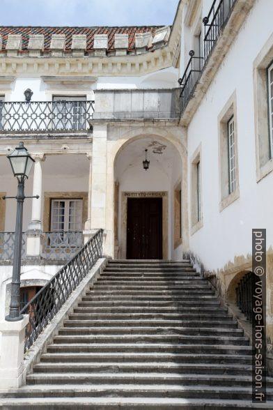 Escalier menant vers l'institut juridique. Photo © Alex Medwedeff