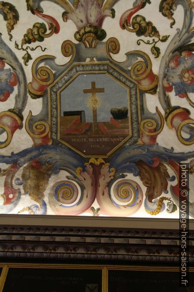 Allégorie de la religion peinte au plafond de la Sala do Exame Privado. Photo © André M. Winter