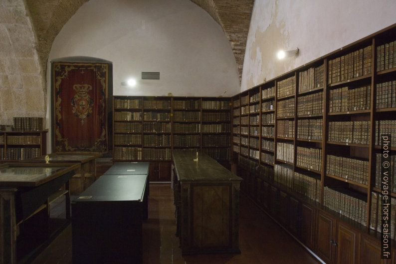 Sous-sol de la Bibliothèque Joanina. Photo © Alex Medwedeff