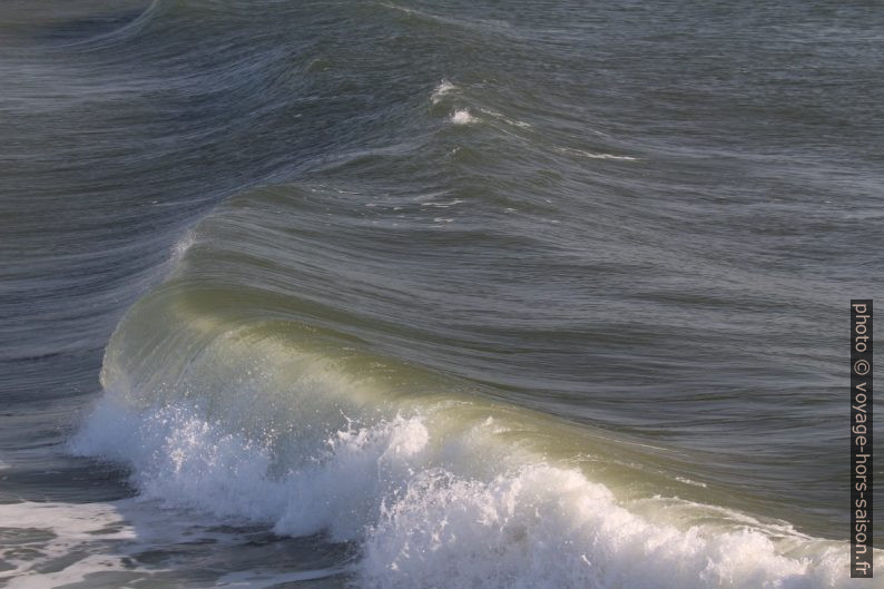 Déferlement d'une vague. Photo © André M. Winter