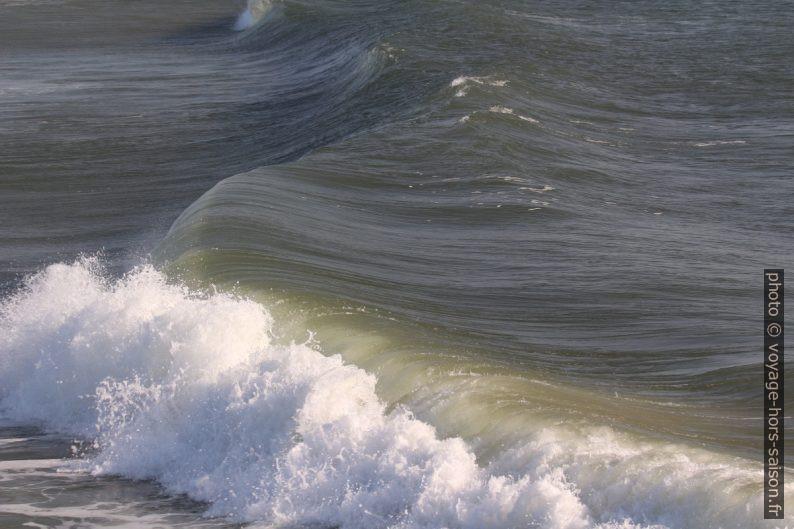 La déferlante s'écrase sur la plage. Photo © André M. Winter