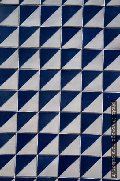 Carreaux bleus et blancs. Photo © Alex Medwedeff