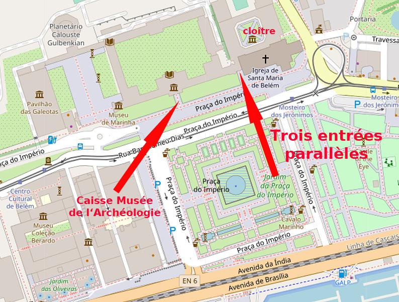 Carte OpenStreetMap du Monastère des Hiéronymites