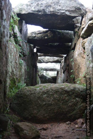 Cavité de la tombe des géants de Coddu Vecchiu. Photo © Alex Medwedeff