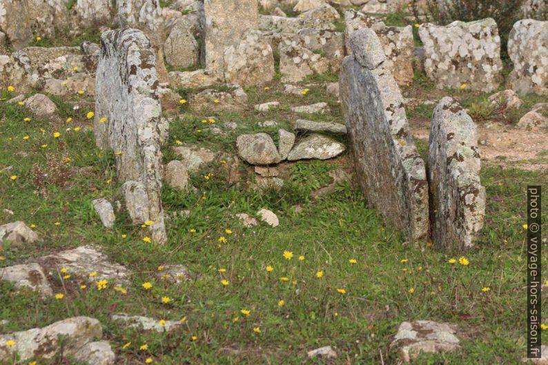 Dalles latérales d'une chambre funéraire de la nécropole Li Muri. Photo © André M. Winter