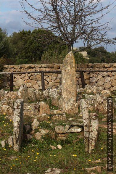 Chambre funéraire et menhir dans la nécropole Li Muri. Photo © André M. Winter
