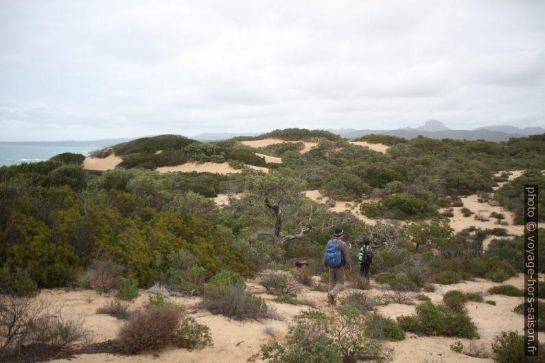 André et Nicolas dans les dunes de Piscinas. Photo © Alex Medwedeff