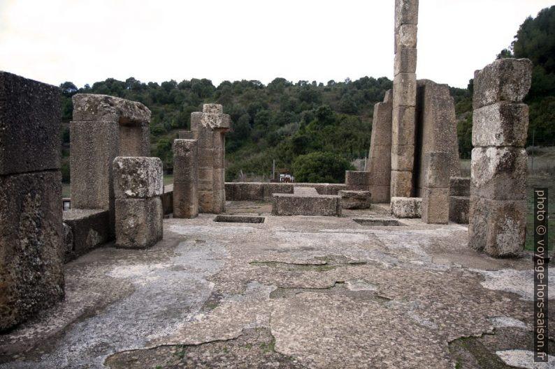 Restes de la mosaïque du Temple d'Antas. Photo © Alex Medwedeff