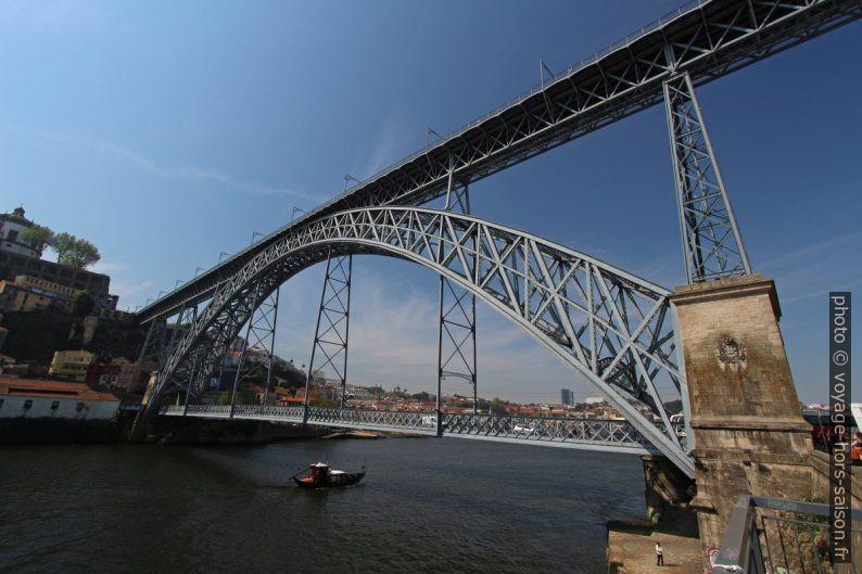 Les deux niveaux du Pont Dom-Luís. Photo © André M. Winter