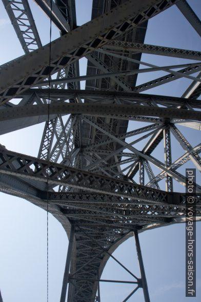 Arc à treillis métallique du Pont Dom-Luís. Photo © Alex Medwedeff
