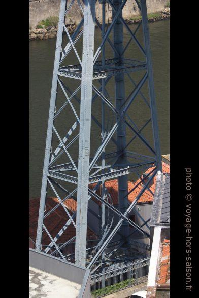 Pilier à treillis sud du Pont Dom-Luís. Photo © André M. Winter