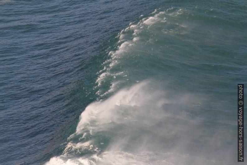 Une vague contre le vent. Photo © André M. Winter