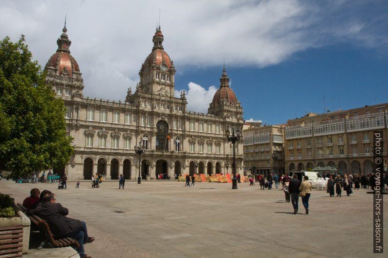 Hôtel de ville de la Coruña. Photo © Alex Medwedeff