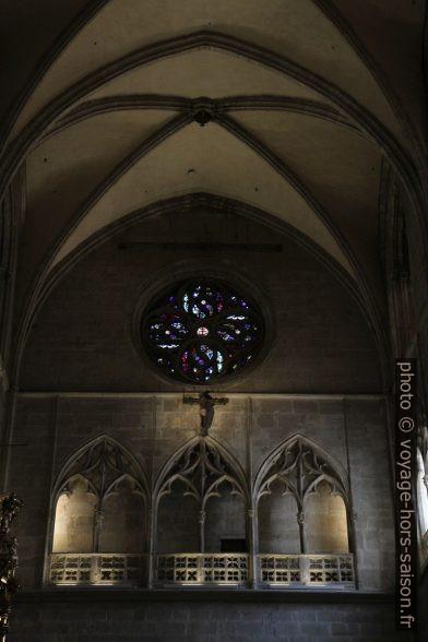Galerie du transept de la cathédrale d'Oviedo. Photo © Alex Medwedeff