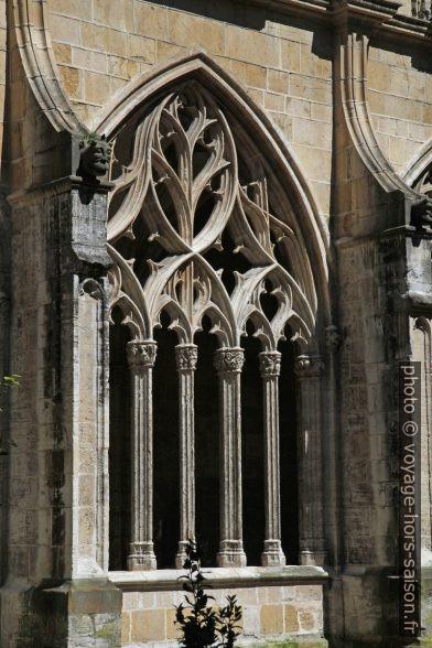 Arcade du cloître de la cathédrale d'Oviedo. Photo © Alex Medwedeff