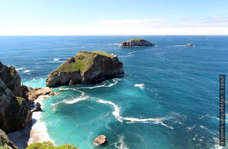 Islote el Sabín, la Isla Erbosa et la Islote el Bravo. Photo © André M. Winter