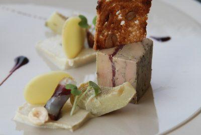 Foie gras au jambon de canard. Photo © Alex Medwedeff