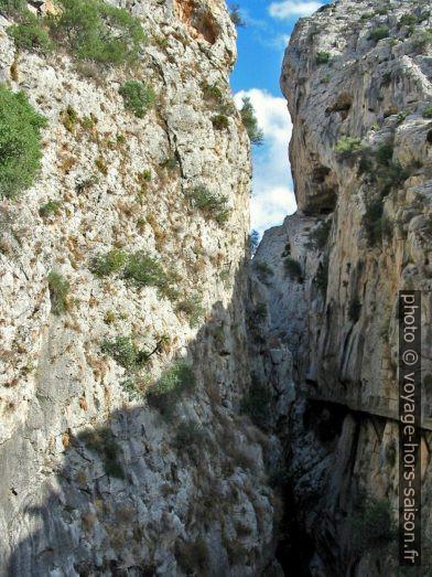 Partie nord du Caminito del Rey en 2003. Photo © André M. Winter