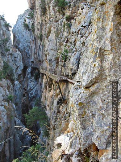 Accès nord du Caminito del Rey en 2003. Photo © André M. Winter