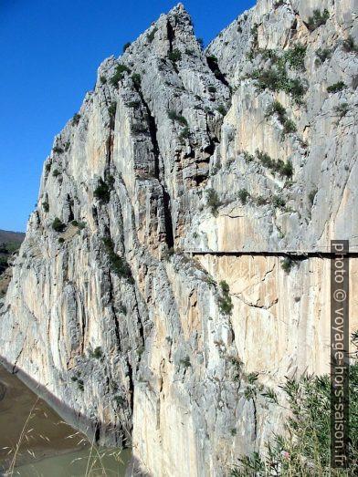 Accès sud au Caminito del Rey en 2003. Photo © André M. Winter