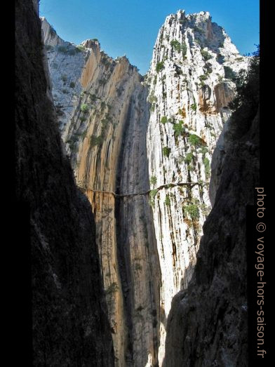 Les gorges Garganta del Chorro vus du tunnel du chemin de fer. Photo © André M. Winter